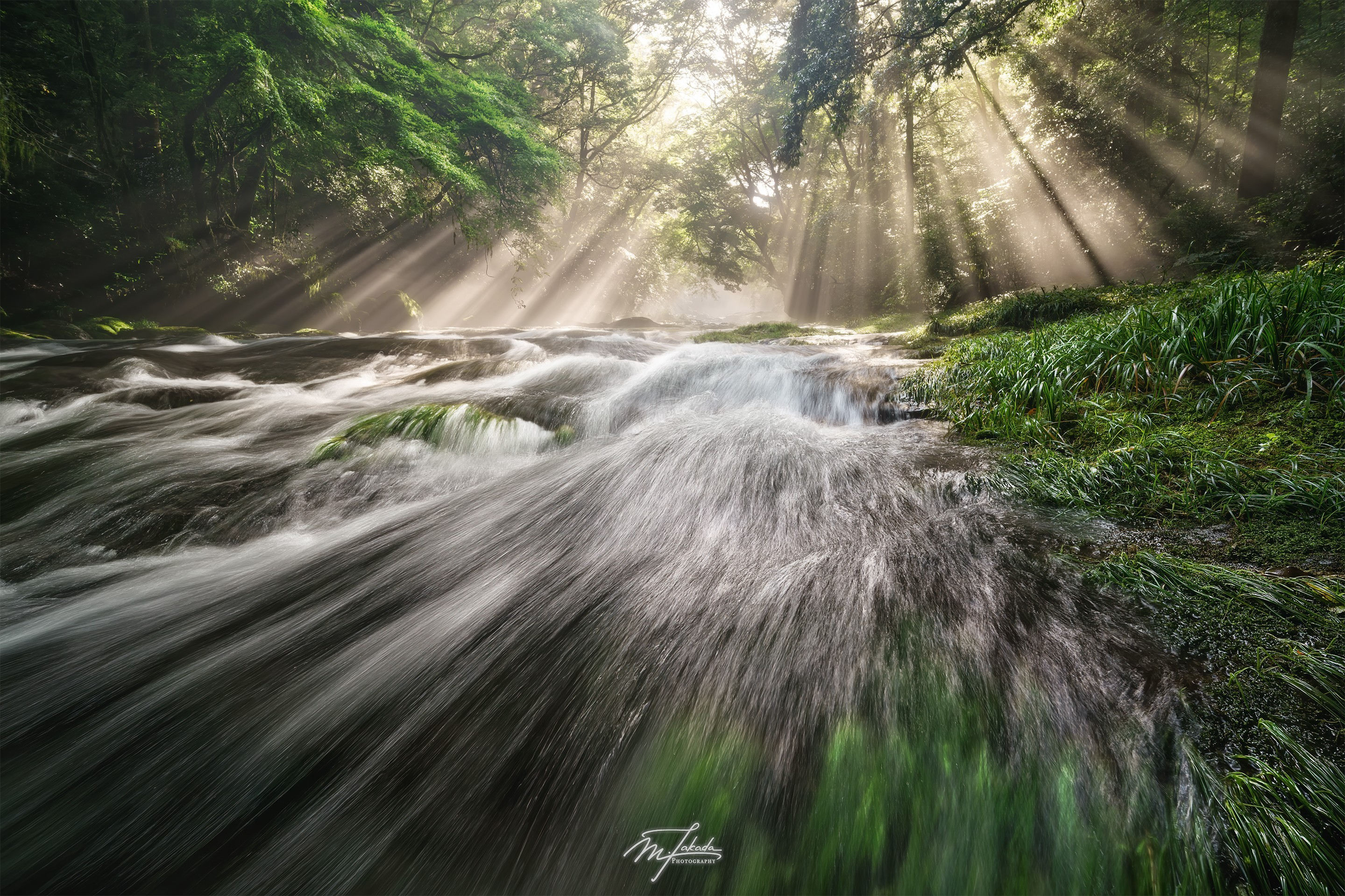 Flow of light and water