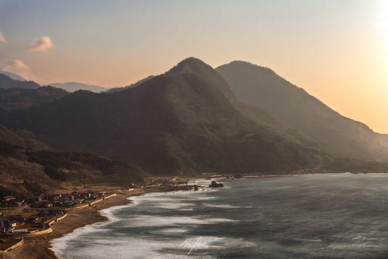 The hamlet on a sandy beach